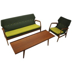 Aksel Bender Madsen Wingback Sitting Group for Bovenkamp, 1950s