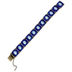 Aksel Holmsen Norway Bracelet Enamel Sterling Silver Midcentury Modernist Modern