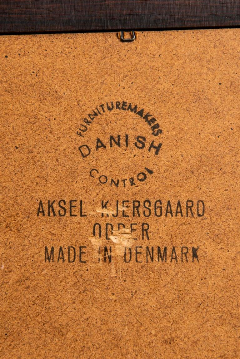 Danish Aksel Kjersgaard Mirror Produced by Odder in Denmark For Sale