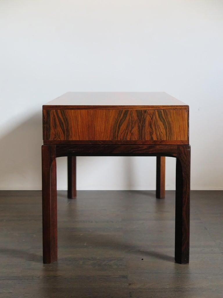 Scandinavian Modern Aksel Kjersgaard Scandinavian Dark Wood Bedside Table for Odder Furniture, 1960s For Sale