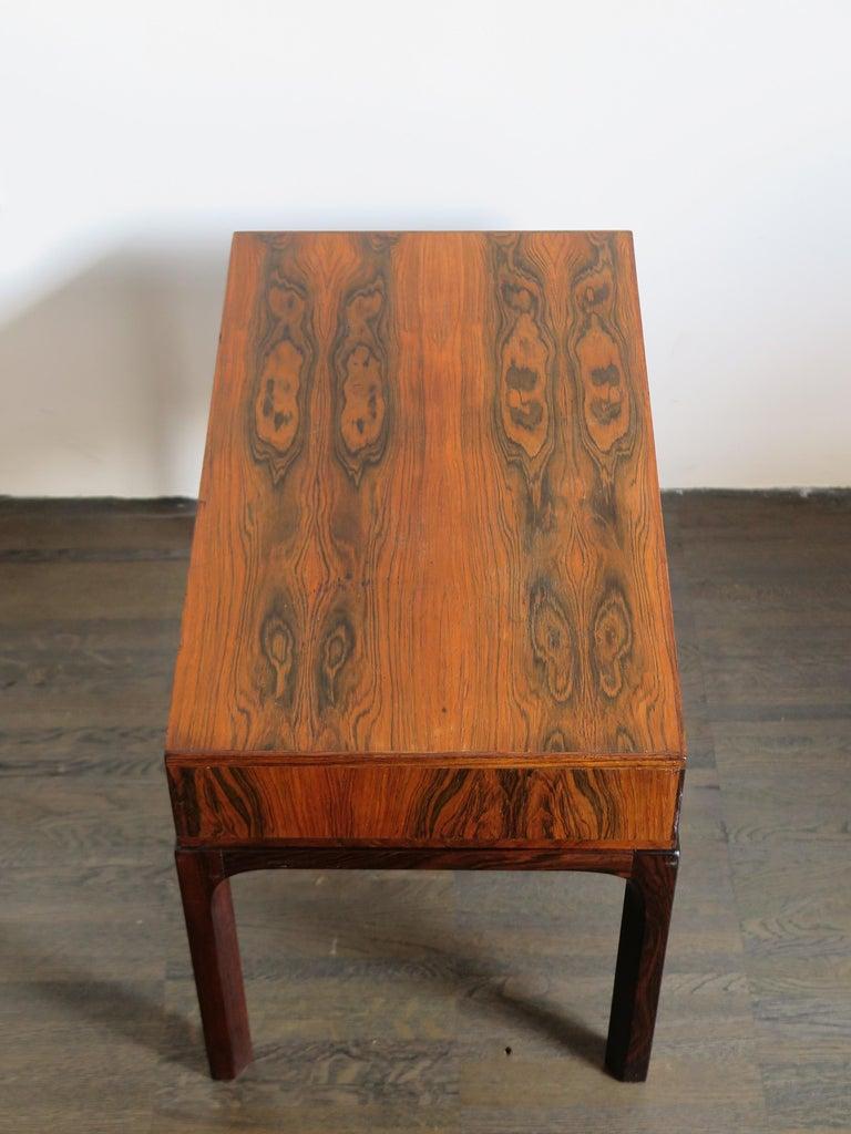 Danish Aksel Kjersgaard Scandinavian Dark Wood Bedside Table for Odder Furniture, 1960s For Sale