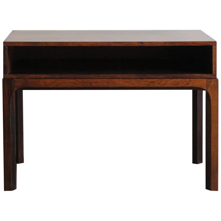 Aksel Kjersgaard Scandinavian Dark Wood Bedside Table for Odder Furniture, 1960s For Sale