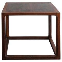 Aksel Kjersgaard Scandinavian Dark Wood Nightstand or Coffee Table, 1950s