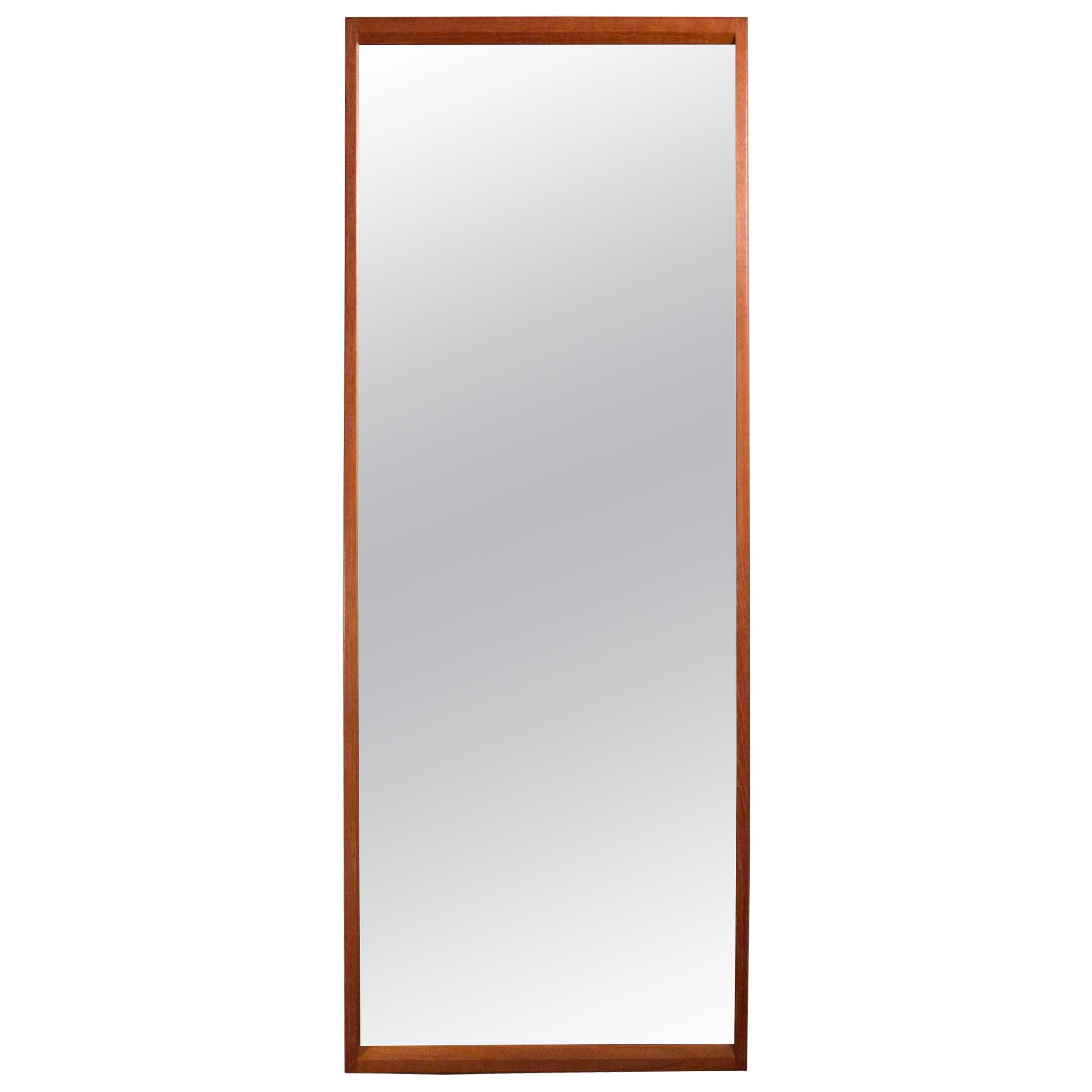 Aksel Kjersgaard Teak Wall Mirror No. 145 by Odder, Made in Denmark, 1960s