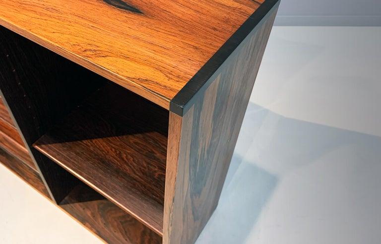 Aksel Kjersgaard Wall Cabinet Rosewood Danish Modern Midcentury In Good Condition For Sale In Berlin, DE