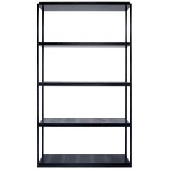 Al Fresco Bookcase in black iron and exotic leather
