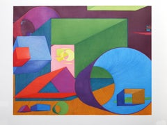 Liv, Large Colorful Geometric Abstract by Al Held