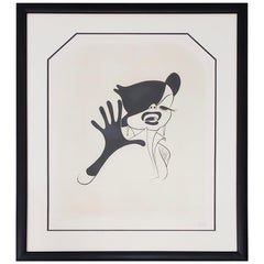 "Al Hirschfeld ""Judy Garland"" Hand Signed Limited Edition Etching, circa 1963"