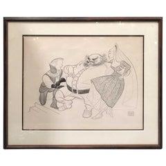 Al Hirschfeld Lithograph Post Nina
