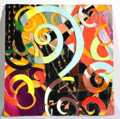 """Home #38"" Multi-colors, Abstract, Brilliant, Swirl Motif, African-American"
