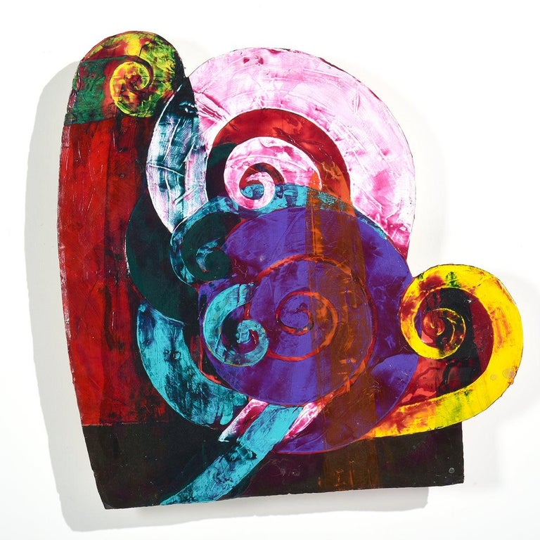 """""""Swirls & More"""" Multi-Layers of Colors, Collage, African-American - Mixed Media Art by Al Loving"""