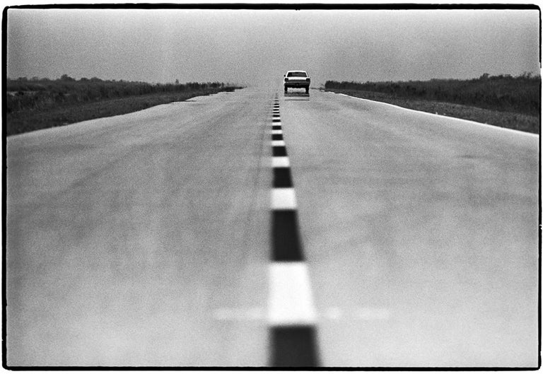 Al Satterwhite Black and White Photograph - Endless Highway