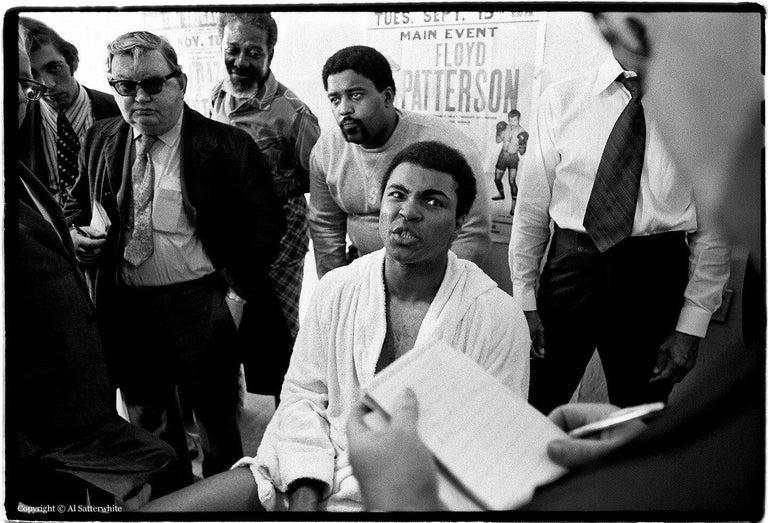 Al Satterwhite Black and White Photograph - Muhammad Ali - 5th St Gym/Miami Beach, FL (press conference)