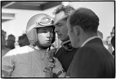 Pedro Rodriguez & Phil Hill being interviewed by Stirling Moss