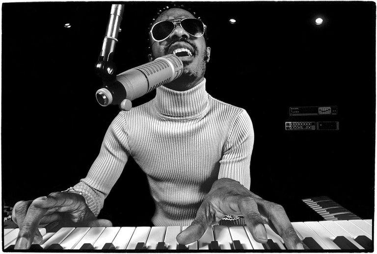 Al Satterwhite Portrait Photograph - Stevie Wonder, Los Angeles, California