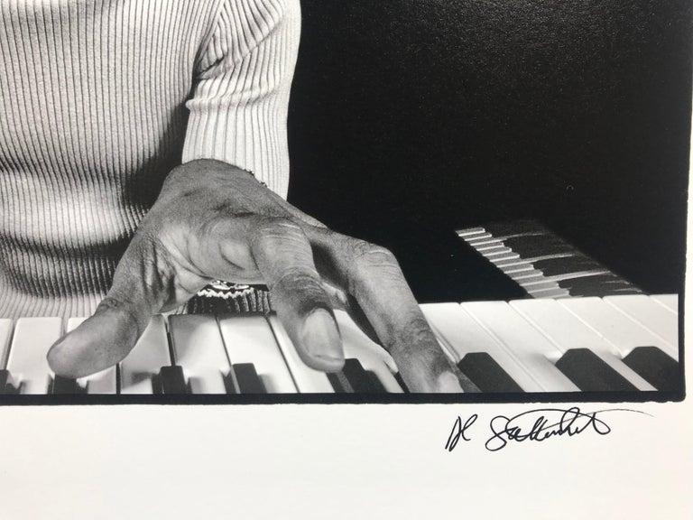 Stevie Wonder Rehearsing - Photograph by Al Satterwhite