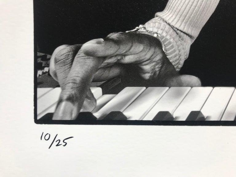 Stevie Wonder Rehearsing - Contemporary Photograph by Al Satterwhite