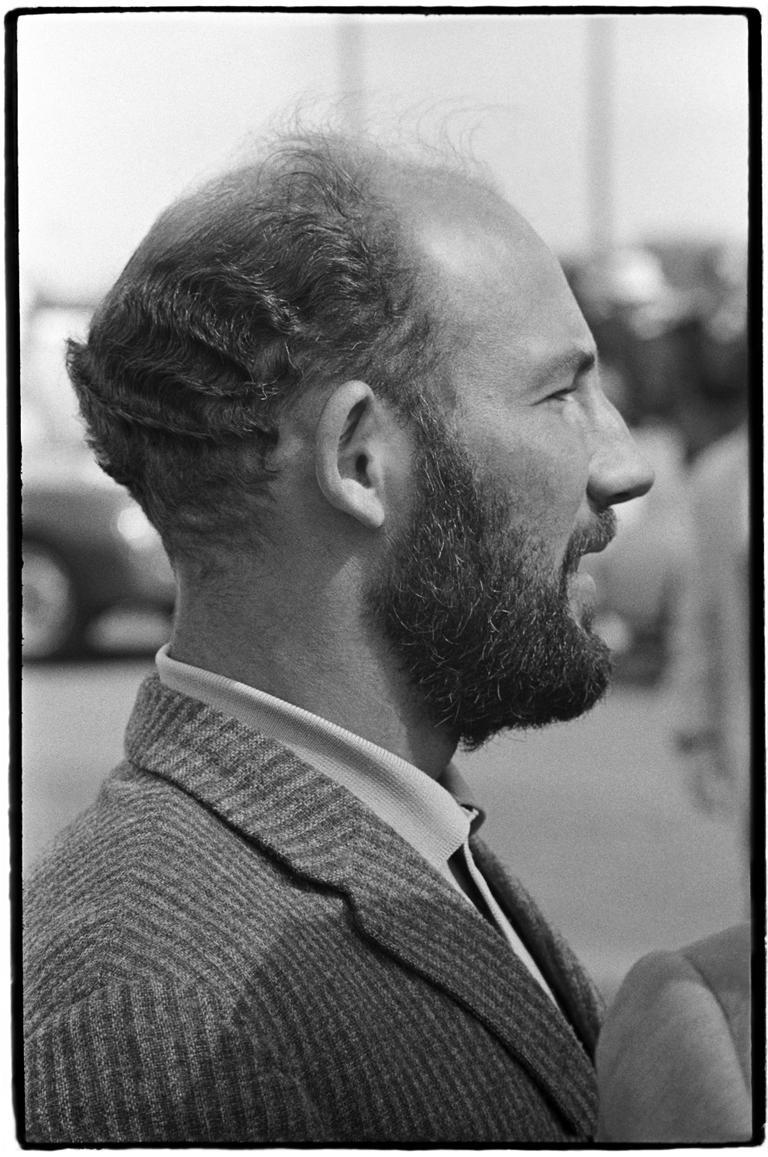 Al Satterwhite Black and White Photograph - Stirling Moss, Daytona 2000 Kilometer race