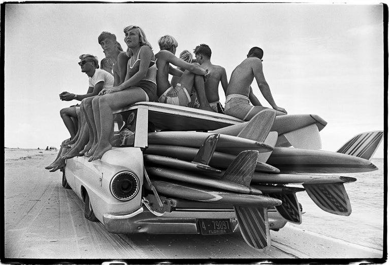 Al Satterwhite Black and White Photograph - Surfers