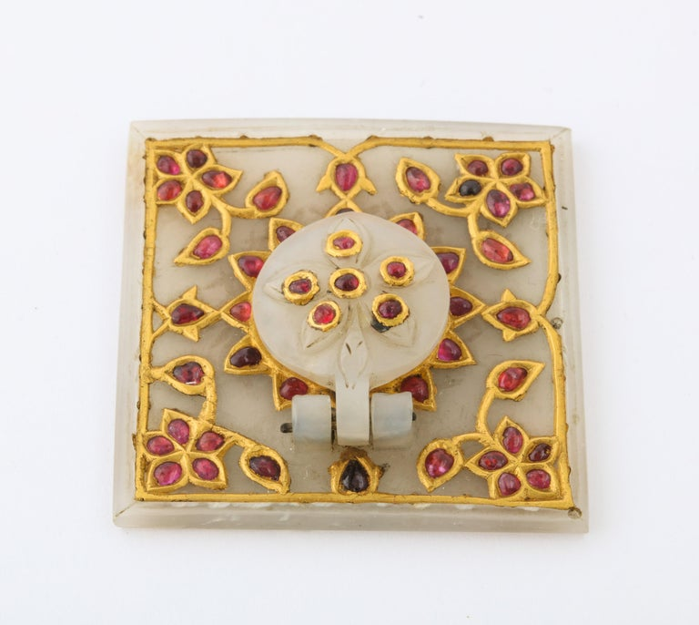 Al Thani Collection, a Mughal Indian Square White Jade Inkwell Cover, circa 1800 For Sale 5