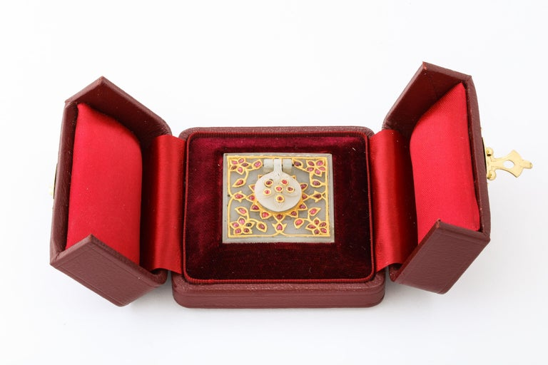 Al Thani Collection, a Mughal Indian Square White Jade Inkwell Cover, circa 1800 For Sale 1