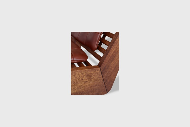 Hand-Crafted ALA Chair Mahogany, Indoor Outdoor by ATRA For Sale