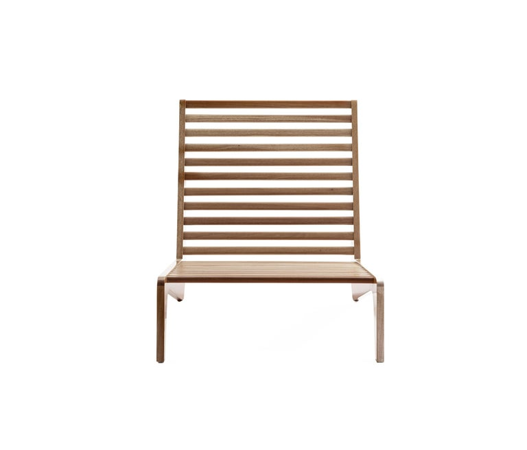 Mexican ALA Mahogany Bench Outdoor Furniture by ATRA For Sale
