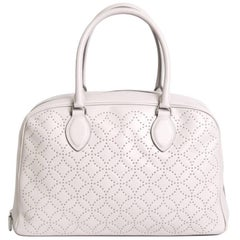 Alaïa 'Arabesque' Bag in Pearl Gray Smooth Lamb Leather