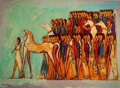 """""""Queen Leadership"""" Oil Painting 35"""" x 47"""" inch by Alaa Awad"""
