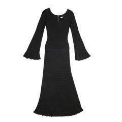 ALAÏA Black dress in Viscose Size S