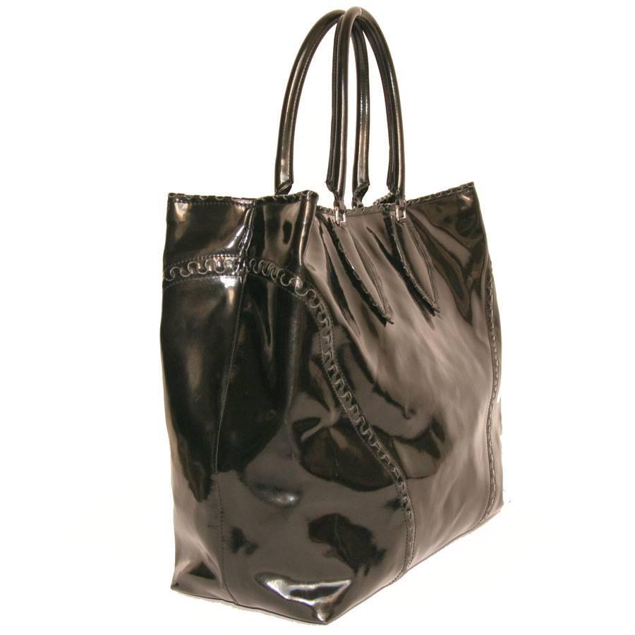 1stdibs Alaïa Large Tote Bag In Black Patent Leather 5HLzW