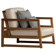 Alabama Beige Lounge Armchair by Talenti