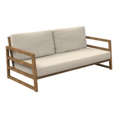 Alabama Iroko 2-Seater Outdoor Sofa Beige