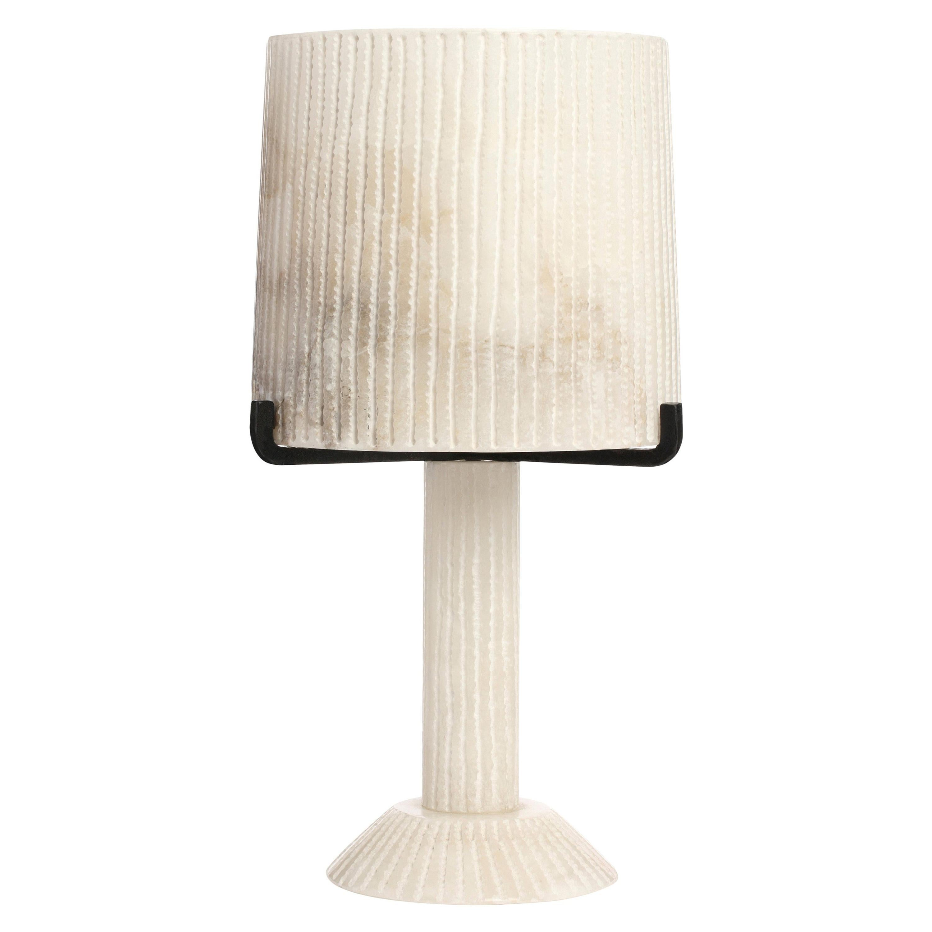 Alabaster Acropolis Table Lamp by CTO Lighting