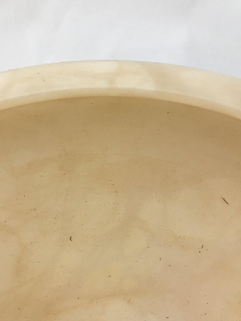 Acrylic Alabaster and Lucite Foot Centerpiece Bowl For Sale