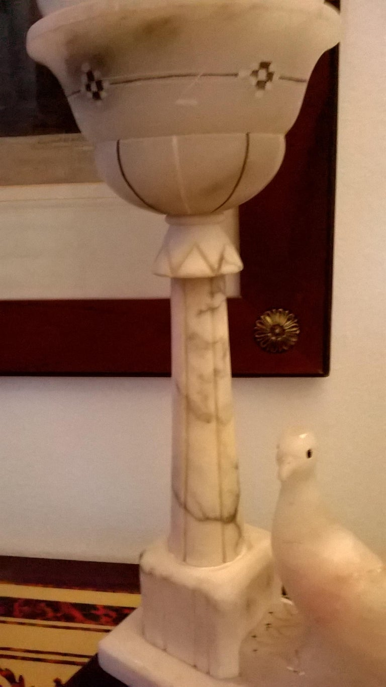 Italian Alabaster and Marble Table Lamp, Italy, 1930 For Sale