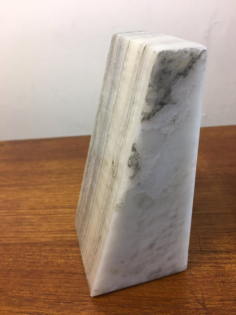 Italian Alabaster Bookends For Sale