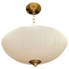 Alabaster Brass Chandelier Pendant Ceiling Light