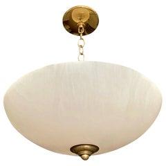 Alabaster Brass Chandelier Pendant Ceiling Light