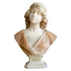 Alabaster Bust 'Judith' Prof E.Montoni, Italy