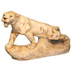 Alabaster Carved Italian Tiger