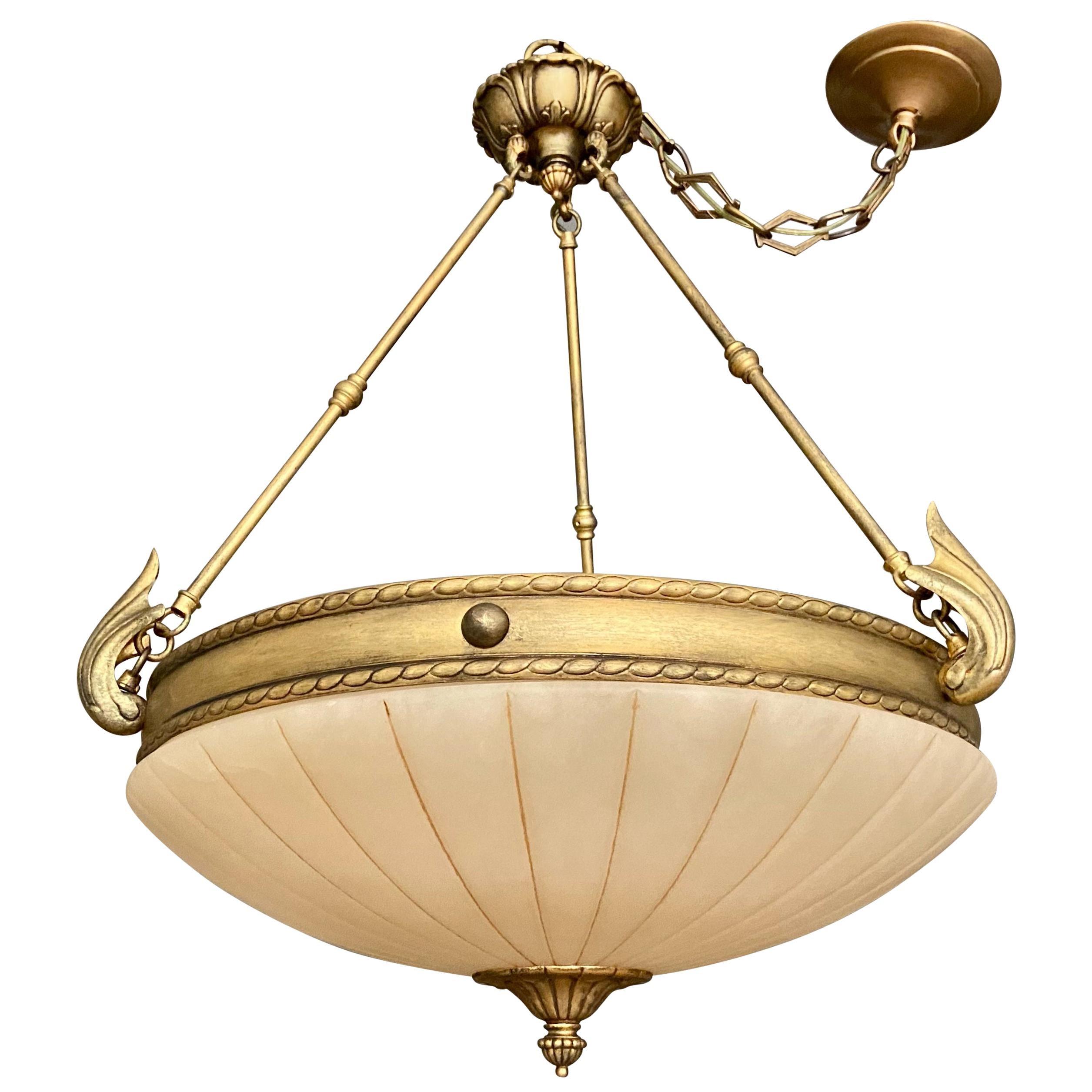 Alabaster Chandelier Pendant Ceiling Light