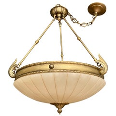 Alabaster Chandelier Pendant Ceiling Light