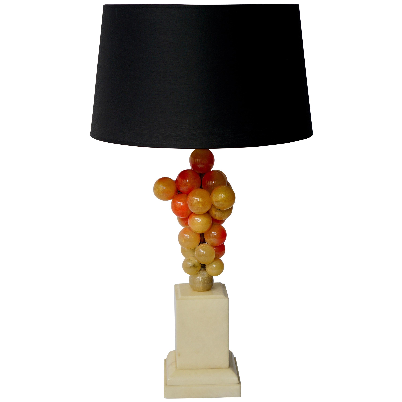 Alabaster Grape Table Lamp