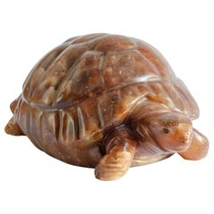 Alabaster Lamp Turtle Figure