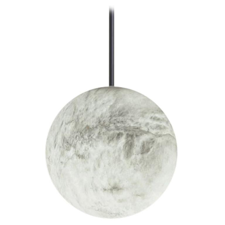 Alabaster Luna Pendant Light by Atelier Alain Ellouz
