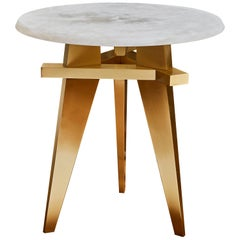 Alabaster Pedestal Table by Studio Glustin