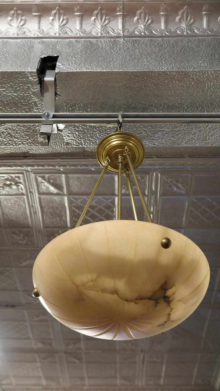Alabaster Pendant Mid Century For Sale 1