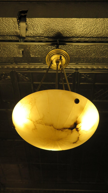 Alabaster Pendant Mid Century For Sale 2
