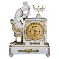 Alabaster Pendulum 'The Reader', Vienna, Dated 1832